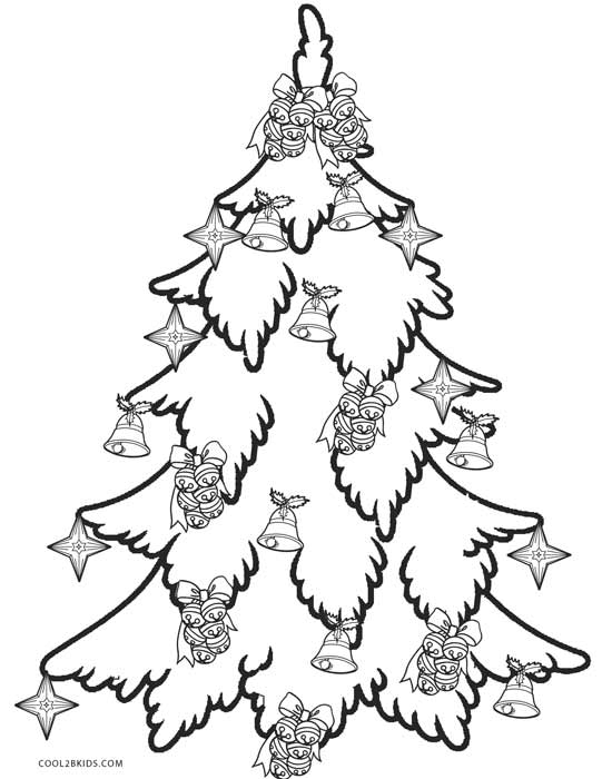 christmas tree coloring pages printable - Christmas Tree Coloring Sheets