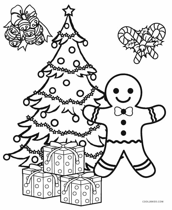 Christmas Tree Decorations Coloring Pages Sketch Coloring Page