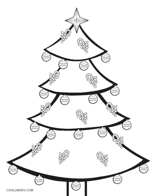 Christmas tree coloring pages for kids ~ Printable Christmas Tree Coloring Pages For Kids | Cool2bKids