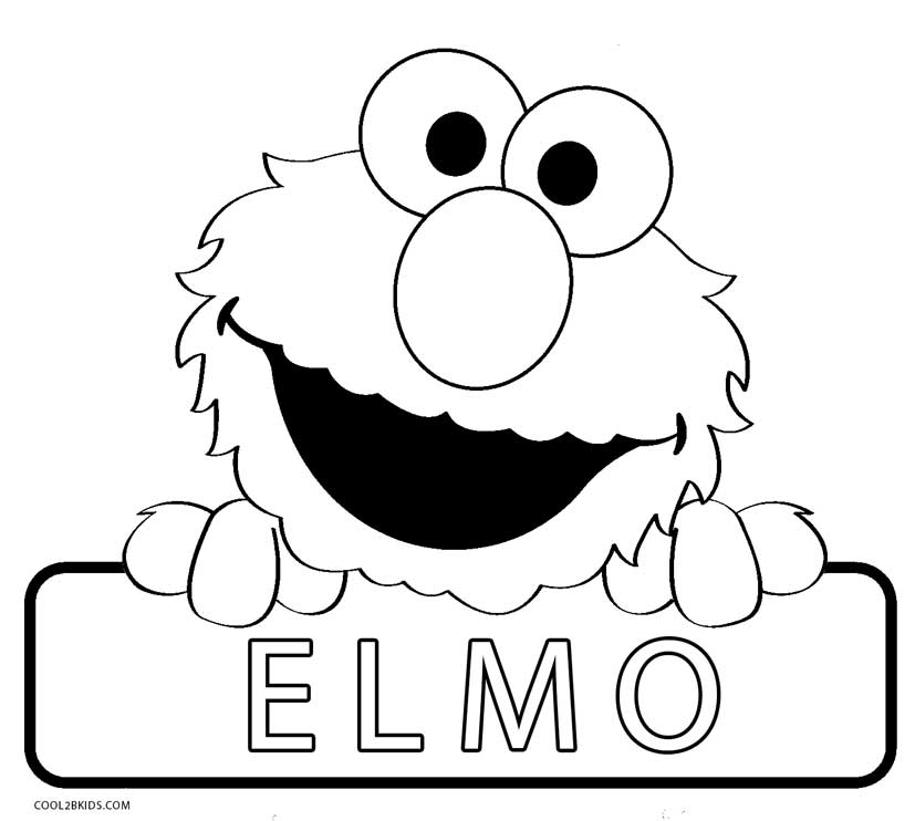 Baby elmo coloring pages coloring pages for Coloring pages elmo cookie monster