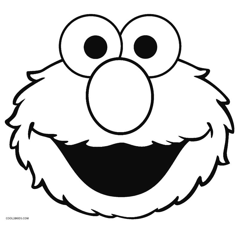 Cookie Monster Face Coloring Pages