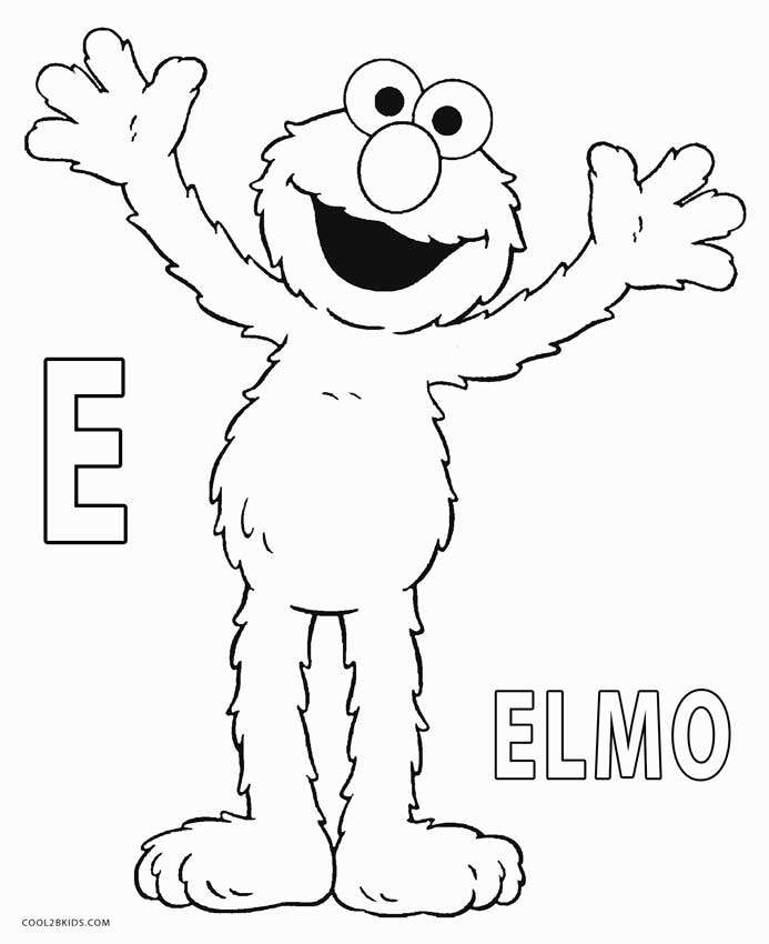 Printable Elmo Coloring Pages For Kids