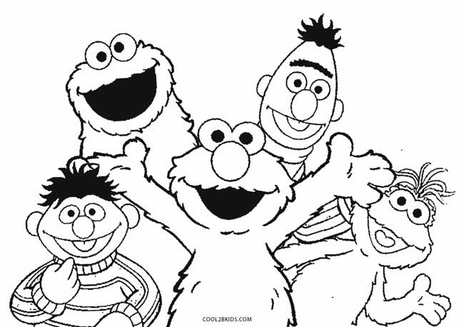 sesame street coloring pages printable - printable elmo coloring pages for kids cool2bkids