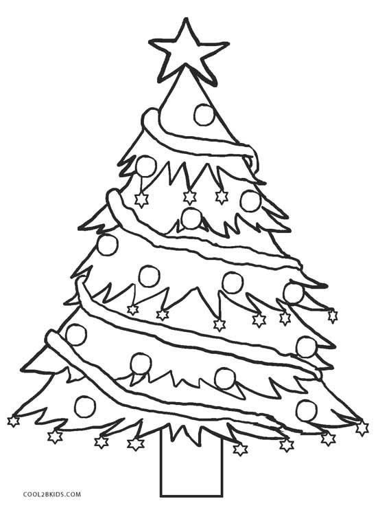 christmas tree printable coloring pages - printable christmas tree coloring pages for kids cool2bkids