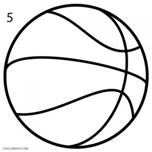 How to Draw a Basketball Step 5