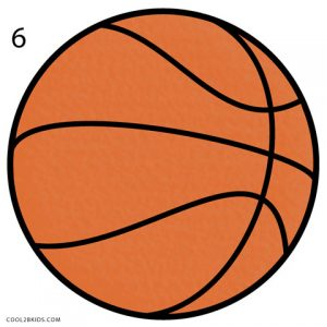 How to Draw a Basketball Step 6