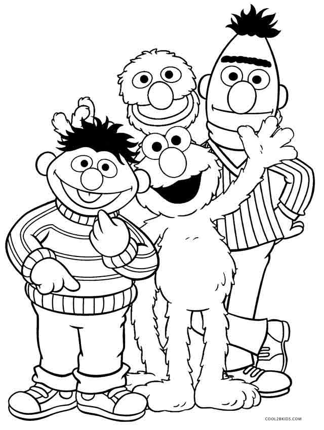 seasme street coloring pages - photo#15