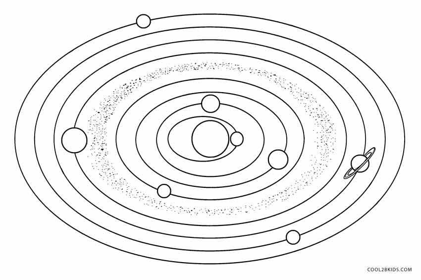 solar system pictures to color - photo #12