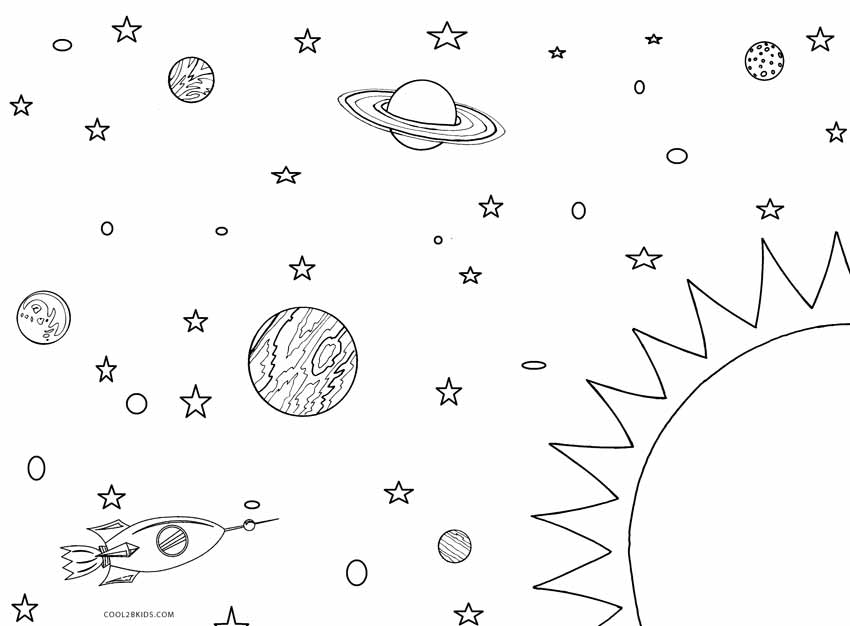 solar system pictures to color - photo #15