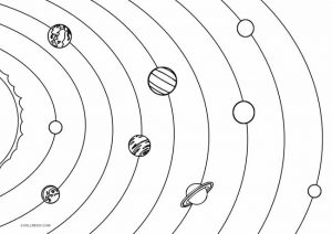 Solar System Coloring Pages for Preschoolers