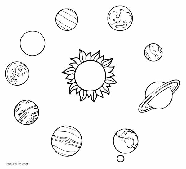 solar system pictures to color - photo #24