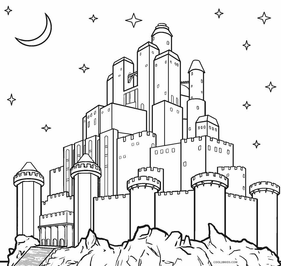 castle coloring pages online - photo#5