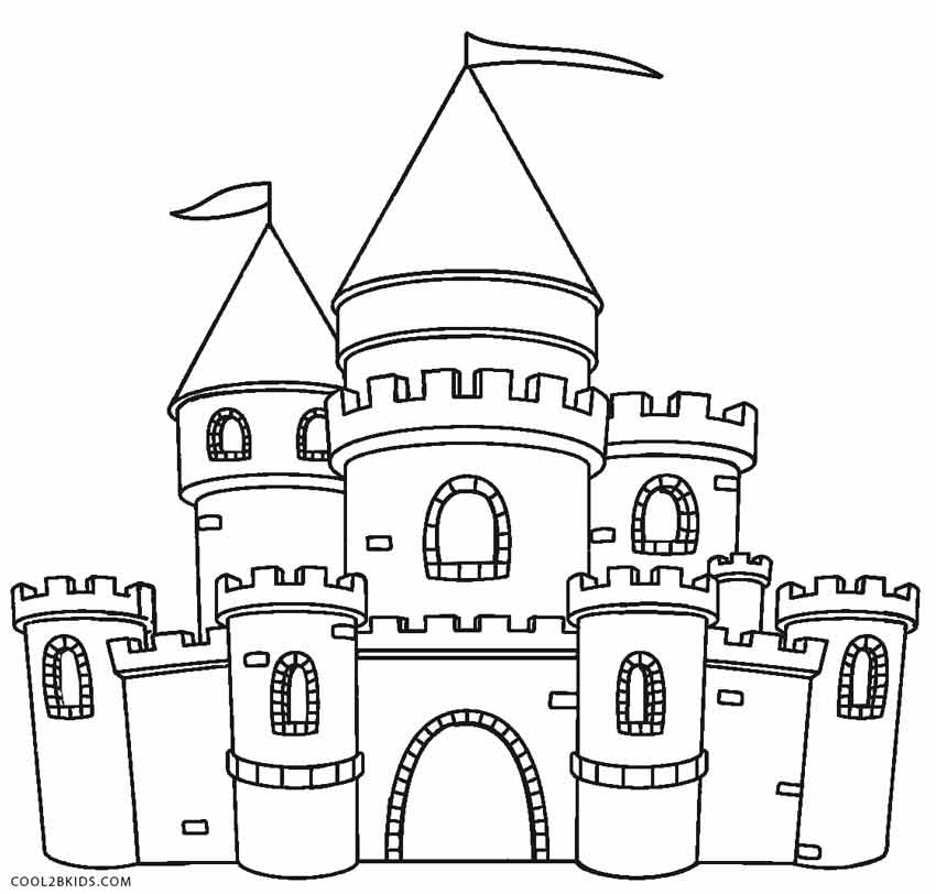 free coloring pages of castles - photo#13