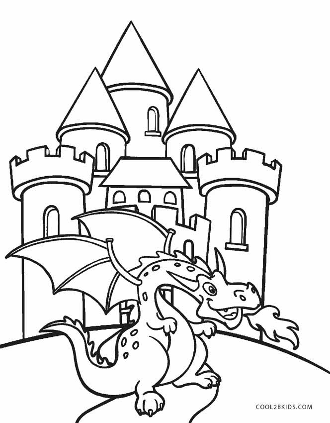 printable castle coloring pages for kids cool2bkids