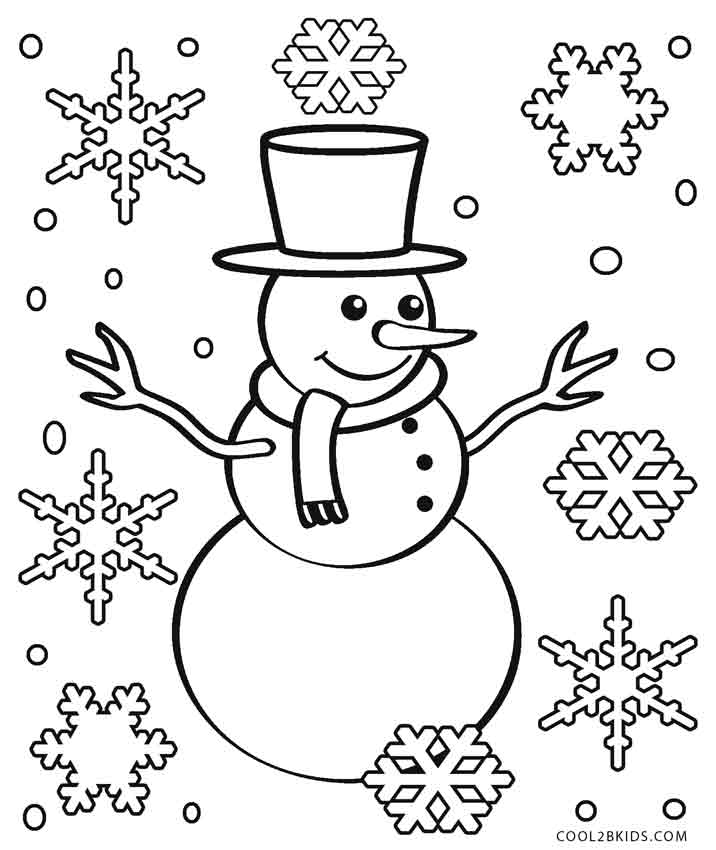 snow coloring pages free - photo#6