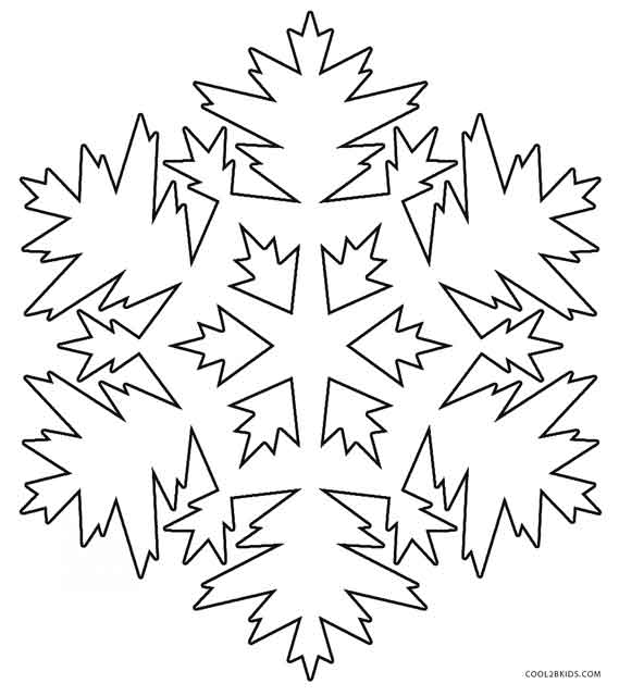 Printable Snowflake Coloring Pages For Kids | Cool2bKids