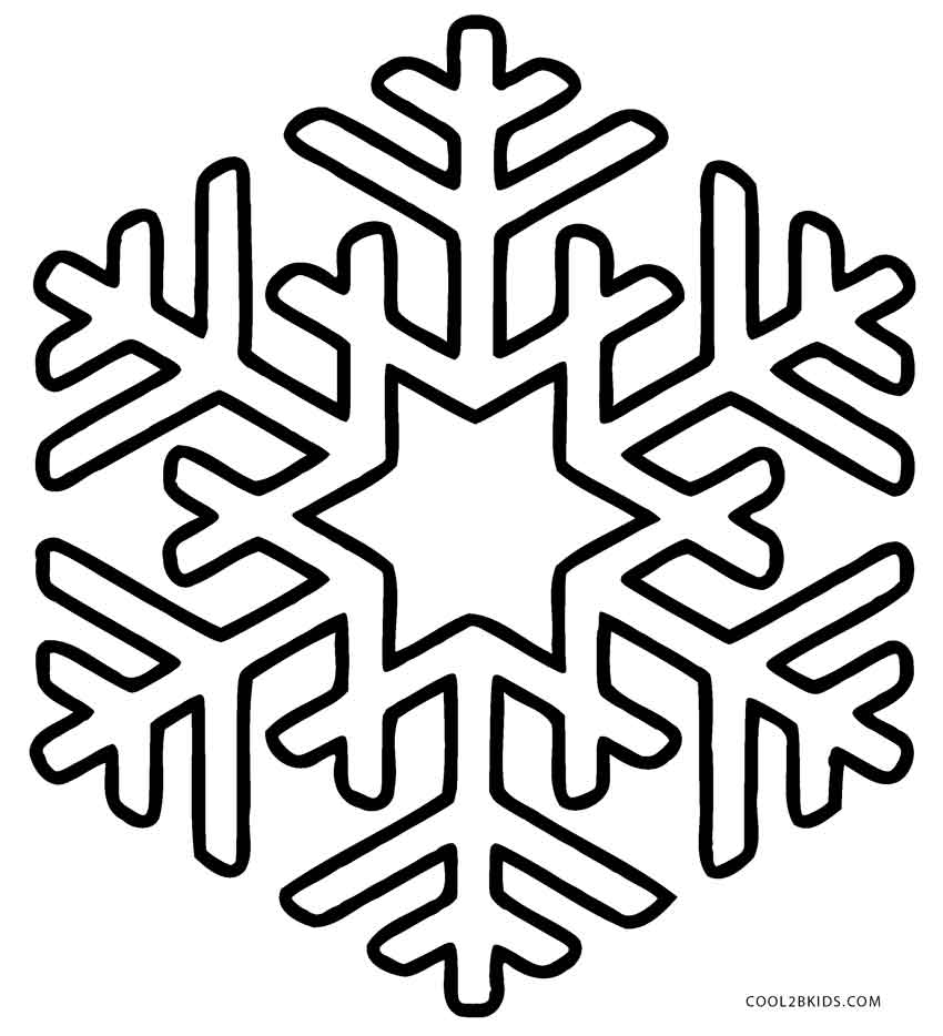 coloring pages of snowflakes - Christmas Snowflake Coloring Pages