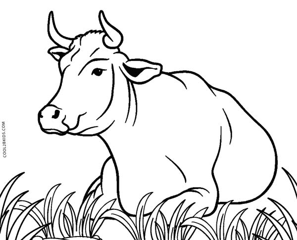 free printable cow coloring pages for kids cool2bkids printable clip art of kids eating Printable Borders