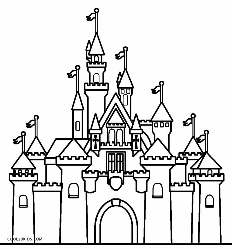 castle coloring pages online - photo#11