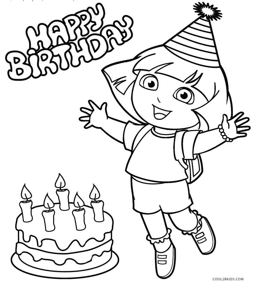 Free printable dora coloring pages for kids cool2bkids for Dora the explorer coloring page