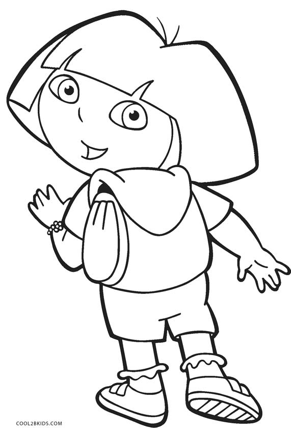 coloring pages with dora - photo#46