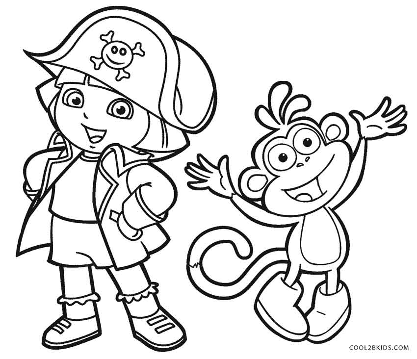 free coloring pages for dora - photo#8