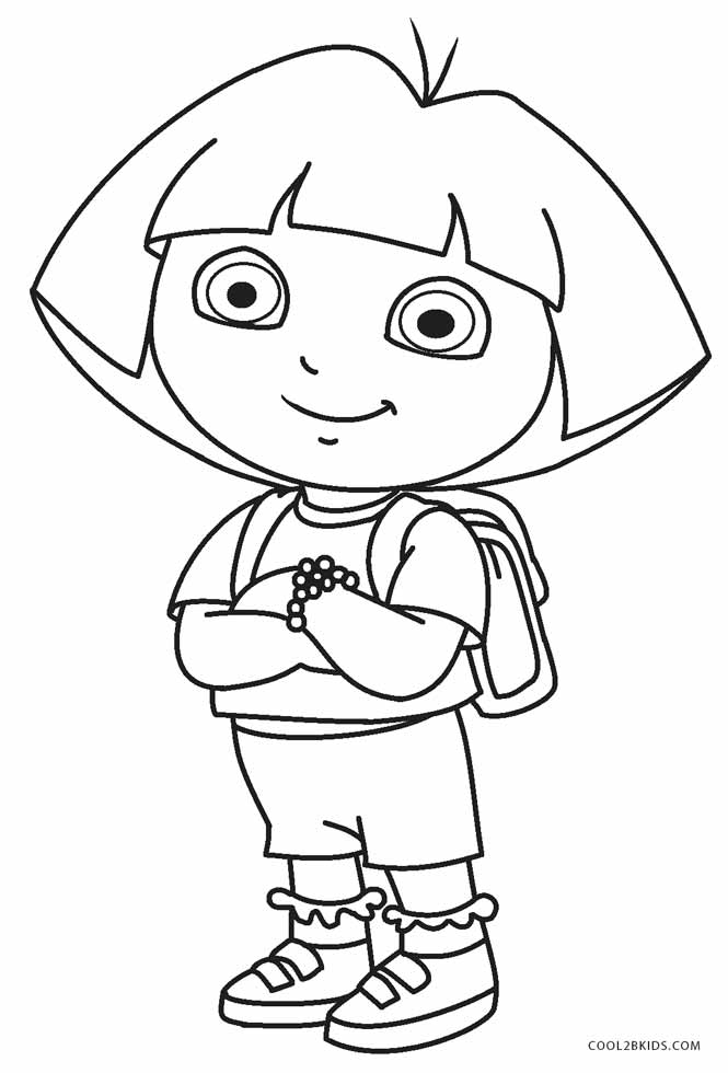 free coloring pages for dora - photo#10