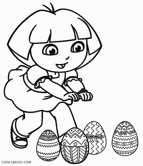 cool Dora Halloween Coloring Page | 640x551