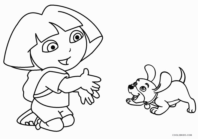 dora easter coloring pages - photo#27