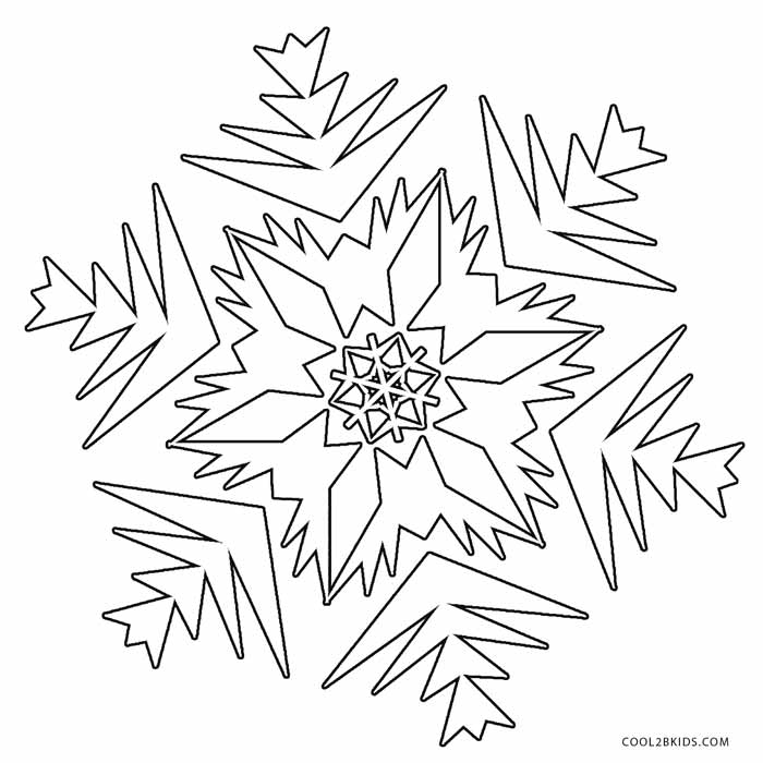 image relating to Printable Snowflakes titled Printable Snowflake Coloring Web pages For Youngsters Amazing2bKids