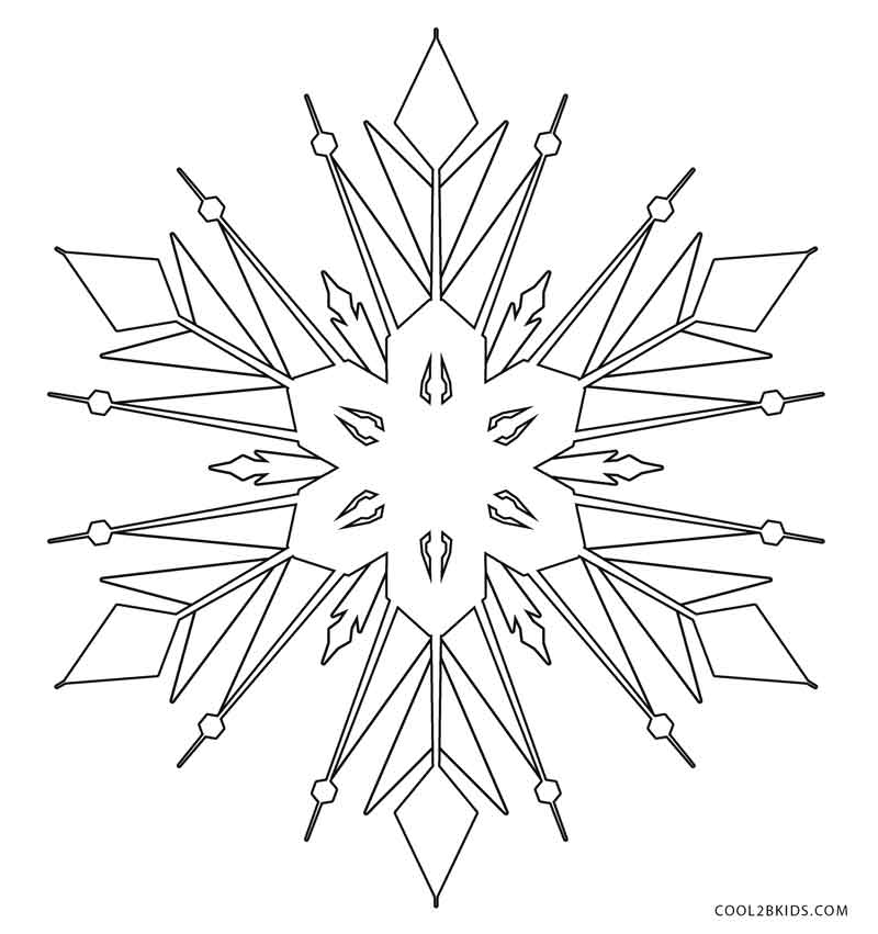 snowflake coloring pages for children - photo#21