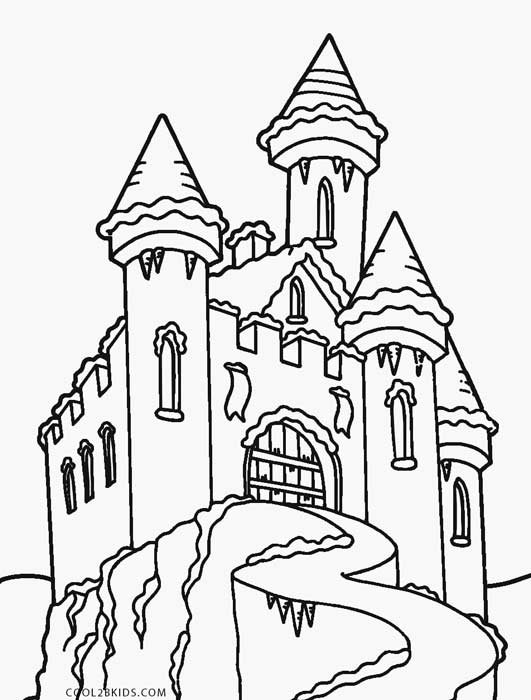 Frozen Castle Coloring Pages
