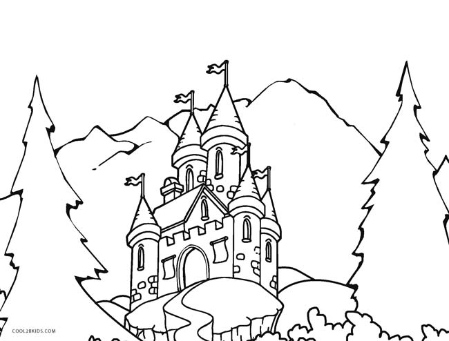 castle coloring pages online - photo#18