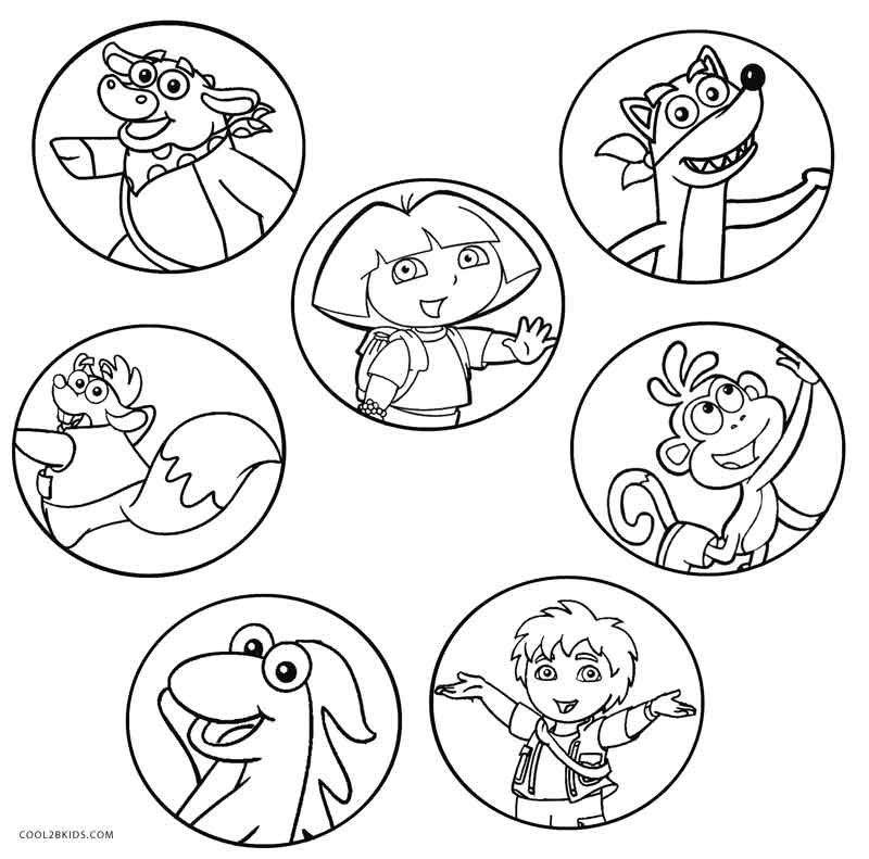 Good Dora And Diego Coloring Pages With Dora And Diego