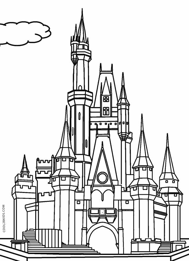castle coloring pages online - photo#3