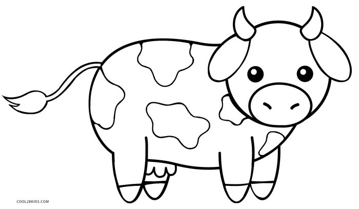 Cute Animated Cow Coloring Pages Coloring Page Cow