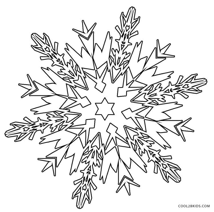christmas snow flacks coloring pages - photo#18