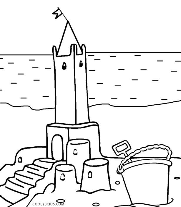 castle coloring pages online - photo#46