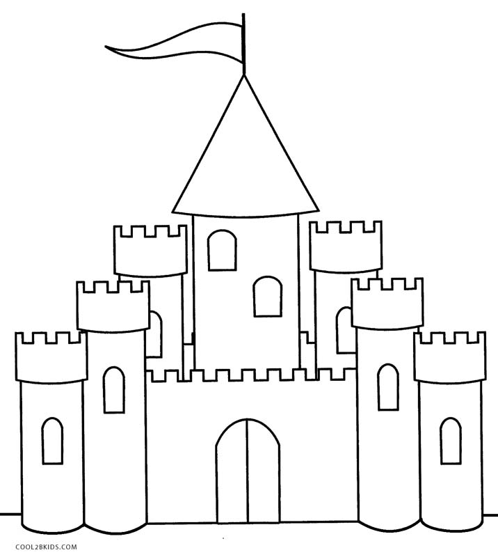 castle coloring pages online - photo#6