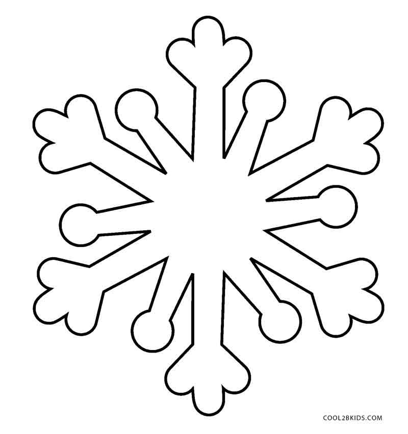 simple snowflake coloring pages - Snowflake Coloring Page