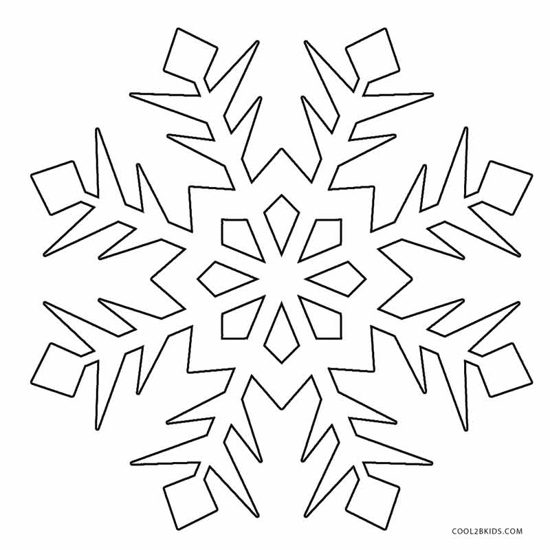 It is a picture of Persnickety snowflakes coloring pages printable