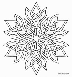 Snowflake Coloring Pages for Adults