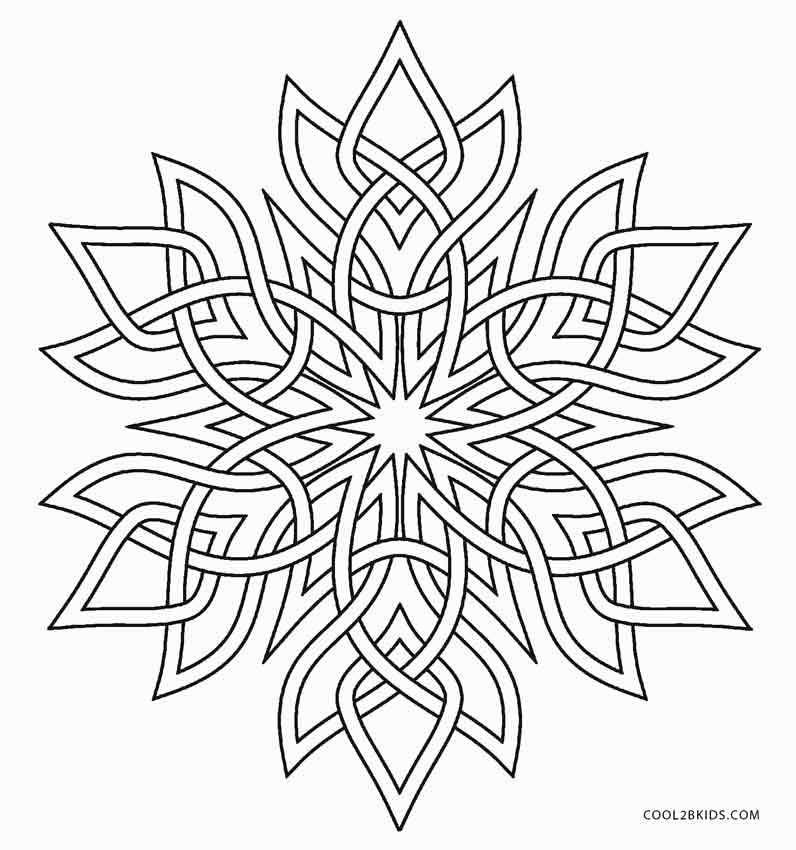 snowflake coloring pages for adults - Snowflake Coloring Page
