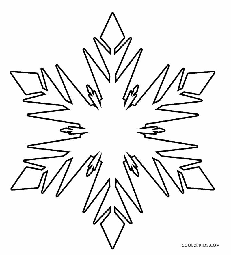 This is an image of Clean snowflakes coloring pages printable