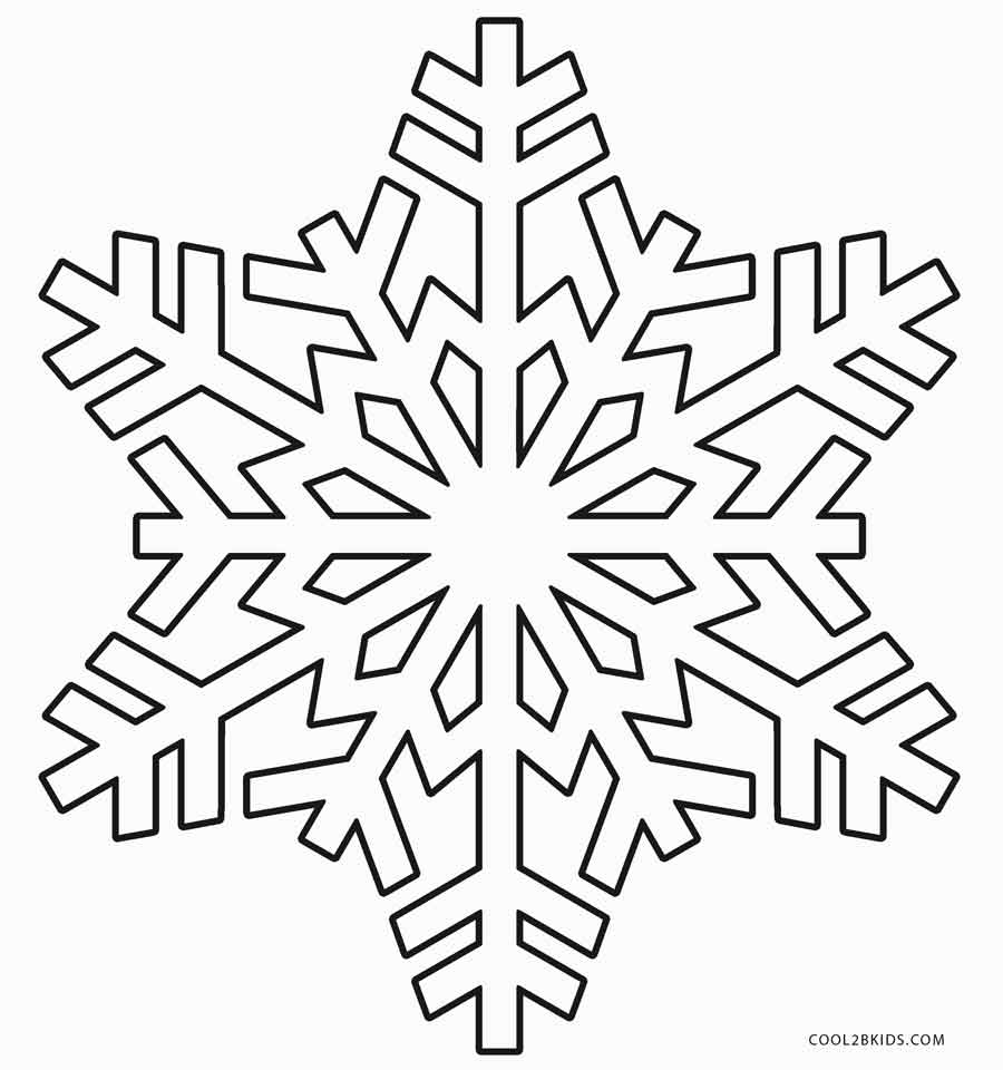 snowflake coloring pages for children - photo#23