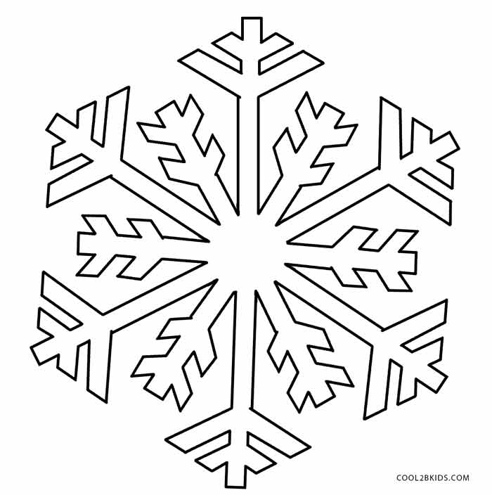 snowflakes coloring pages for toddlers-#18