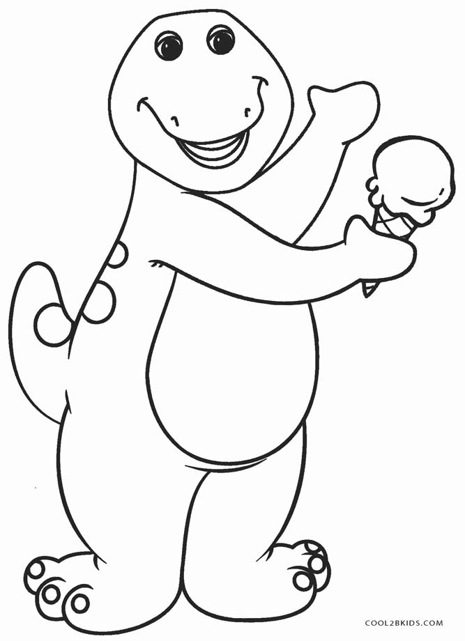 Free Printable Barney Coloring Pages For Kids