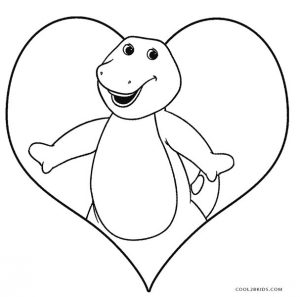 coloring pages of barney - photo#24