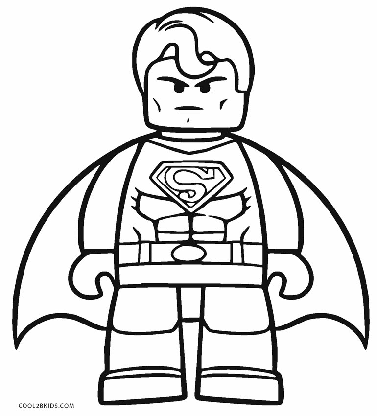 Superman printing coloring pages