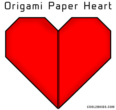 Easy Instructions To Fold An Origami Red Paper Heart Cool2bkids